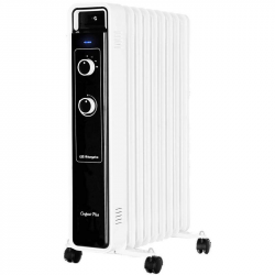 Radiador de Aceite 2000W Blanco/Negro. Mod. Orbegozo RJ 2000