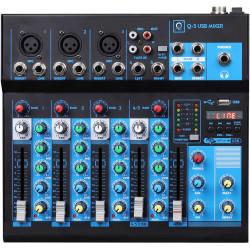 Mesa de mezcla 5 canales USB bluetooth OQAN. Mod. Q5 MK2 USB