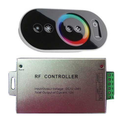 Controlador táctil para tira LED RGB máx. 180/360W 15A DC12/24V. Mod. 3312