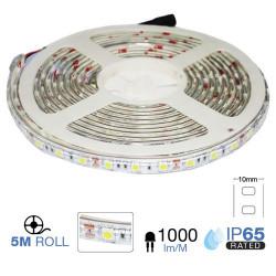 Tira led SMD5050 10.8W/m IP65 12V 60 leds/m 5 metros. Mod. 2148