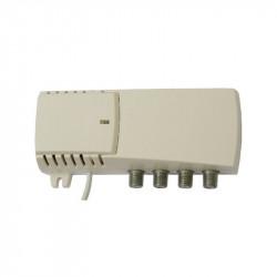 Amplificador interior 26dB 2 salidas + test TERRA. Mod. TE-HS018L