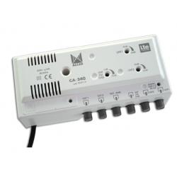 Amplificador UHF-UHF-VHF/FM 2 salidas ALCAD. Mod. CA-340
