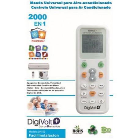 Mando Universal 2000 en 1 para aparatos de aire acondicionado blanco