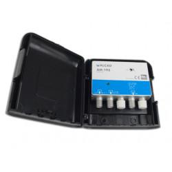 Amplificador mástil UHF 32 dB LTE700 ALCAD. Mod. AM-195
