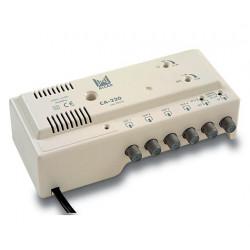 Central amplificadora TV+FI 4 salidas (24 Vdc) ALCAD. Mod. CA-220