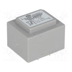 Transformador cerrado 2VA 230VCA 9V 0,22A PCB IP00. Mod. TSZZ2/005MP