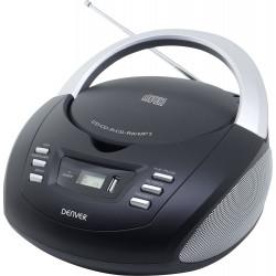 Radio CD mp3 usb Denver negro. Mod. TCU-211N