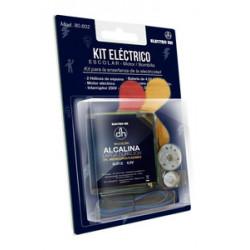 Kit eléctrico escolar bombilla, interruptor y motor.  Mod. 80.602