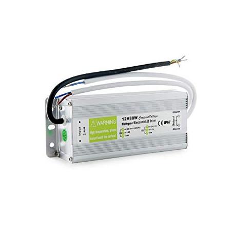 Fuente alimentación 12V 80W IP67. Mod. KDTR12V80WIP67
