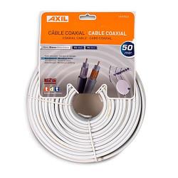 Rollo cable coaxial 50 metros blanco Engel. Mod. CA0752E