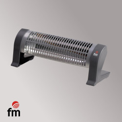 Radiador eléctrico 2 barras cuarzo 1200W FM. Mod. 2302C