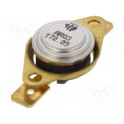 Sensor termostato SPST-NC 170°C 16A 250VCA ±5°C. Mod. L170