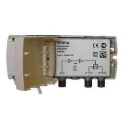 Amplilficador interior 2 salidas 20dB 47-862MHz TERRA. Mod. AS039