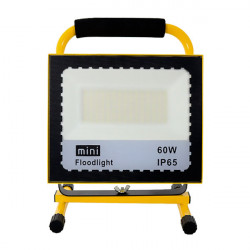 Foco proyector LED portátil con batería 60W. Mod. LM6334