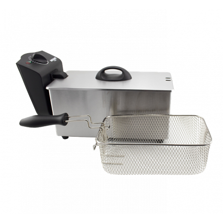 Freidora inox 2000W 3.0 litros Bastilipo. Mod. FE-2000-3L