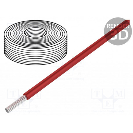 Cable silicona 1,5mm2 rojo -60÷180°C 500V. Mod. 45502