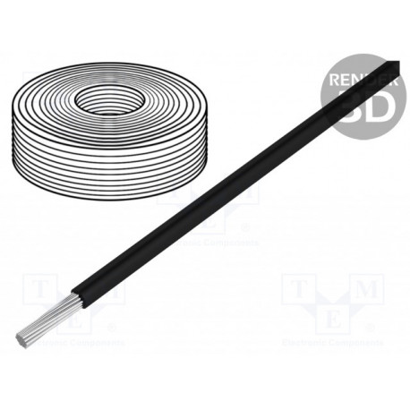 Cable silicona 1,5mm2 negro -60÷180°C 500V. Mod. 45501