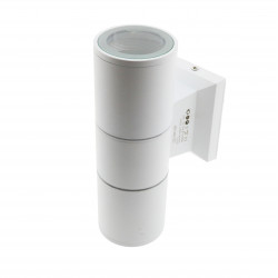 Aplique de pared White 2XGU10 Tube IP54. Mod. LM6196