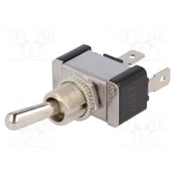 Interruptor palanca 2 posiciones OFF-ON 10A/250VCA. Mod. R13-437A1-01B