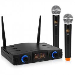 Sistema micrófono doble inalámbrico mano PYLE. Mod. PDWM2950