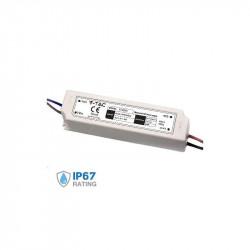 Fuente de alimentación profesional 60W 12V 5A IP67. Mod. 3234