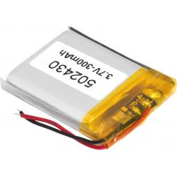 Batería recargable 3.7 V 320 mAh Li-Polímero 502430PL. Mod. BAT519