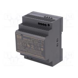 Fuente alimentación carril din 24V 100W Mean Well. Mod. HDR-100-24
