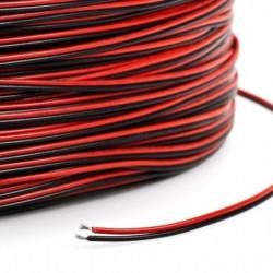 Cable Manguera paralela 2 Hilos 0.50mm2 rojo negro. Mod. L-6