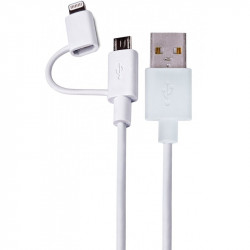 Cable Lightning + Micro USB - USB