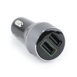 Cargador rápido coche 2 USB 2.1A QC3.0 NEGRO. Mod. EG-U2QC3-CAR-01