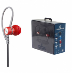Auricular + Micro Sport V5 Bluetooth + Micro SD Rojo Coolsound. Mod. CS0153