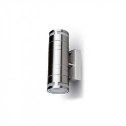 Aplique design steel pared IP44 2xGU10. Mod. 7504