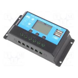 Regulador solar 12V - 24VDC 10A LCD. Mod. SOL-10A-LCD