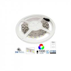 Tira led SMD5050 RGB 10.8W/m IP20 12V 60 leds/m 5 metros. Mod. 2120