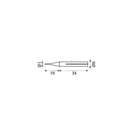 Punta larga duración soldador 15W DH. Mod. 03.047/15/PLD