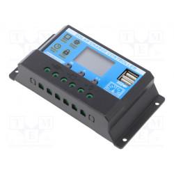 Regulador solar 12V - 24VDC 20A LCD. Mod. SOL-20A-LCD