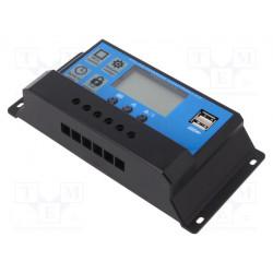 Regulador solar 12V - 24VDC 40A LCD. Mod. SOL-40A-LCD