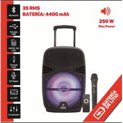 """Altavoz con batería 8"""" 250W Bluetooth micrófono. Mod. A310"""