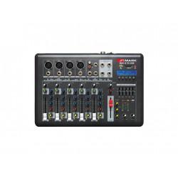 Mesa mezcla 4 canales + 1Ch (st). Phantom USB/SD. Efectos. Mod. MAX 6 FX USB