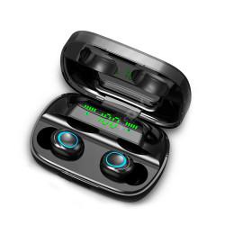 Mini Auriculares Bluetooth TWS-S11 LED (IOS/Android) Negro. Mod. TWS-S11