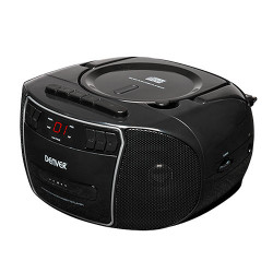 RADIO CASETE CD CON PLL NEGRO DENVER. Mod. TCP40N
