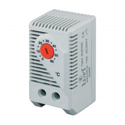 Termostato regulable 0 - 60º NC carril Din LUFT. Mod. KLRTNC