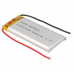 Batería recargable Li-Polímero 3.7V 500 mAh. Mod. GSP532248