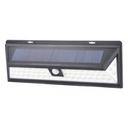 Aplique solar LED recargable 10W negro. Mod. 81.775/2