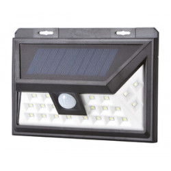 Aplique solar LED recargable 5W negro. Mod. 81.775/1