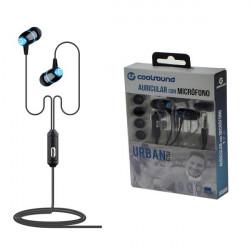 Auricular + Micrófono Urban Mic azul Coolsound. Mod. CS0108