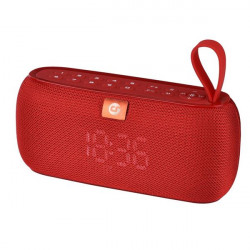 Altavoz Bluetooth Clock 10W rojo COOLSOUND. Mod. CS0220