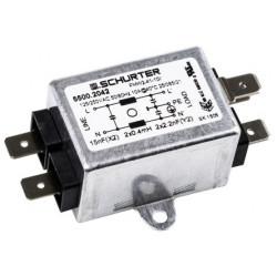 Filtro RFI 2.2 nF, 15 nF, 10A, 250 Vac, 60Hz Schurter. Mod. 5500.2042