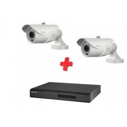 Kit videograbador + 2 cámaras exterior 1080p. Mod. K1080EXT