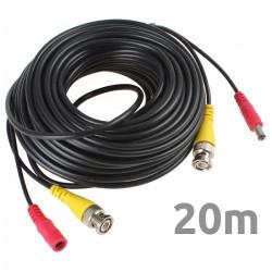 Conexión cámara grabador video y alimentación 20 metros. Mod. KC20